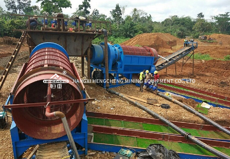 alt Alluvial gold processing plant